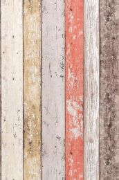 Wallpaper Old Planks pale red
