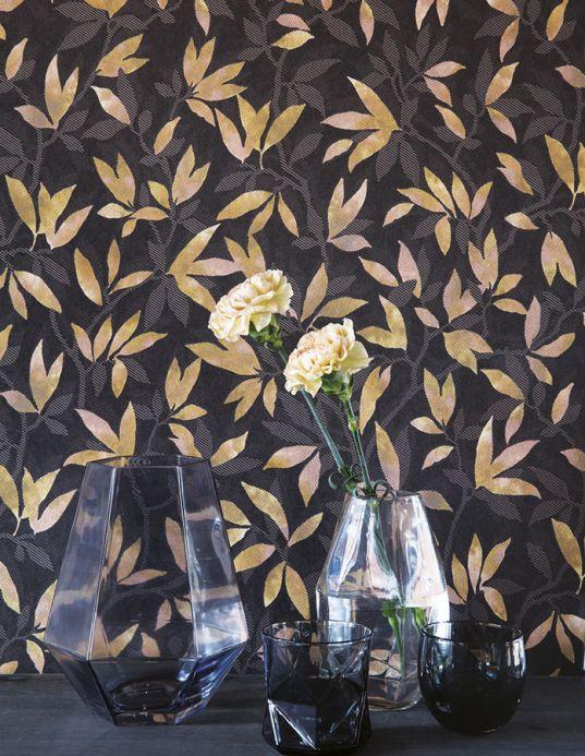 Papel de parede botânico Papel de parede Dagista marrom acinzentado Ver quarto