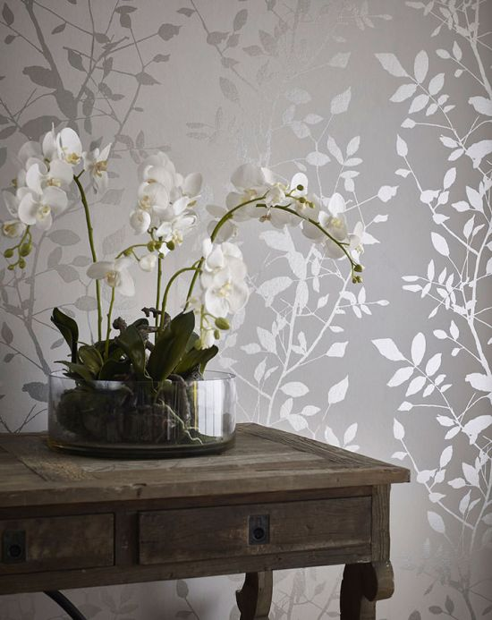 Country style Wallpaper Wallpaper Glorette silver Room View