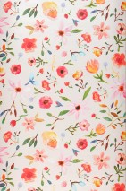Wallpaper Jill Matt Leaves Blossoms White Blue Brown Green Orange Rose Red