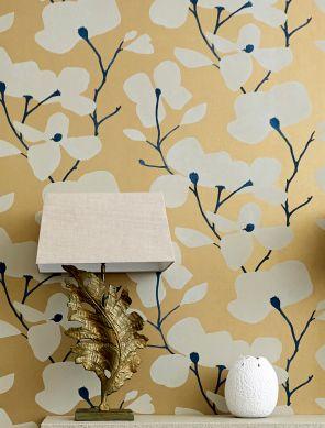 Wallpaper Munroe pearl gold Room View