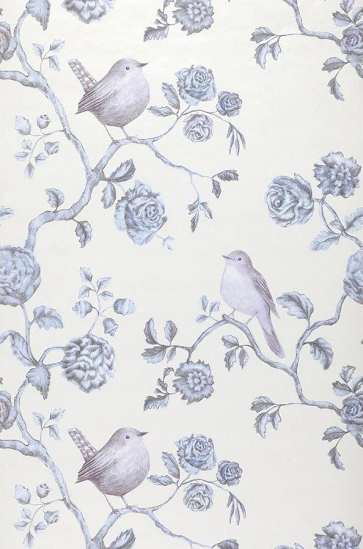 Cara blanc cr me nacr lustre bleu gris p le gris violet p le papier pe - Papier peint des annees 70 ...