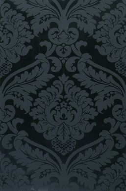 Papier peint Rajah noir Largeur de lé