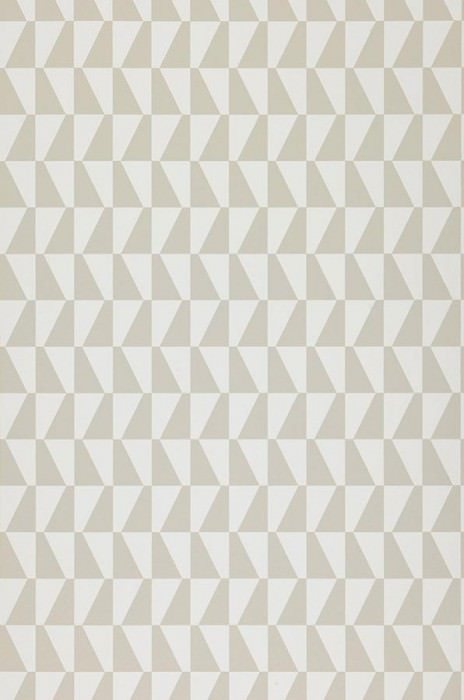 Papier peint Balder Mat Trapèze graphique Blanc Gris beige clair