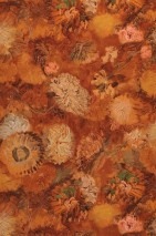 Wallpaper VanGogh Peonies Matt Flowers Blossoms Brown tones Green Green brown Salmon Orange brown   Pastel yellow
