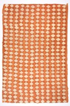 Wallpaper Yamantaka Batik Style Hand-printed Matt Shabby chic Rhombuses Beige Orange brown