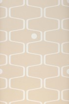 Wallpaper Nirvanus Matt Graphic elements Retro elements Light grey beige White