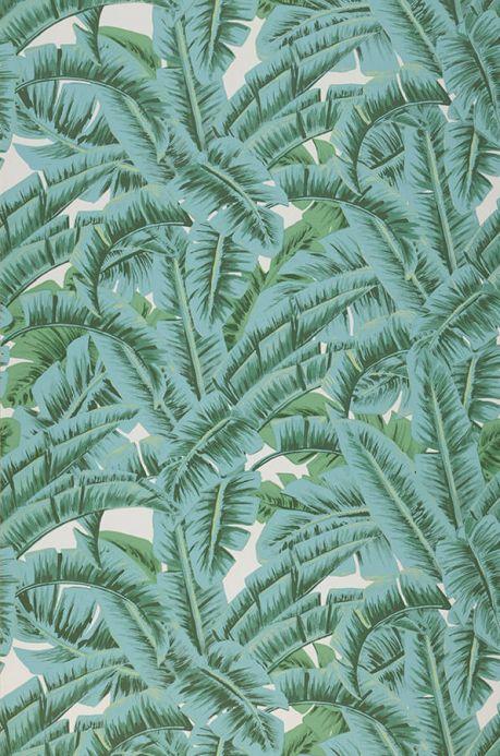 Botanical Wallpaper Wallpaper Flavia pastel turquoise Roll Width