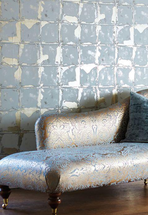 Metallic Wallpaper Wallpaper Abiona light grey Room View
