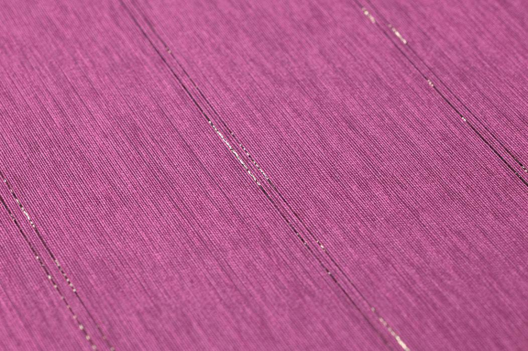 Wallpaper Viviane Shimmering Stripes Violet Dark brown glitter