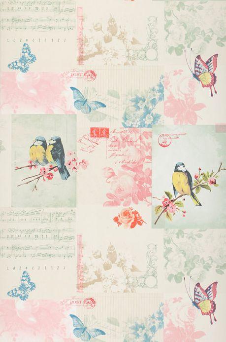 Archiv Papier peint Bensi rosé pastel Largeur de lé