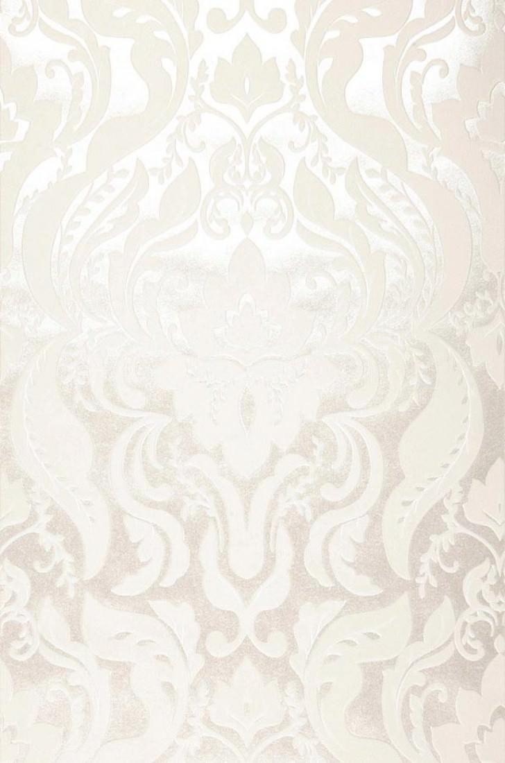 Papier peint sennin nacre brillant blanc cr me papier peint des ann es 70 - Papier peint annee 70 ...