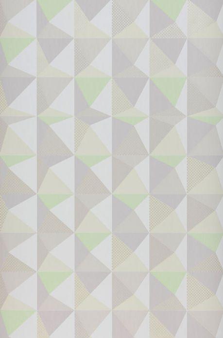 Archiv Papel de parede Vector verde amarelado pálido Largura do rolo