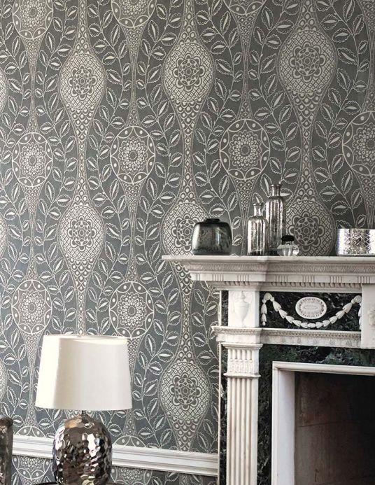 Archiv Papel pintado Moron gris sedoso Ver habitación