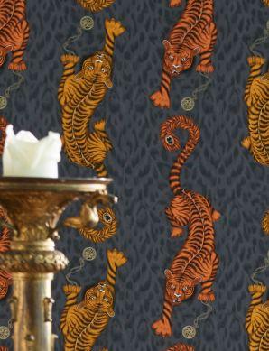 Papel pintado Tigris naranja Ver habitación
