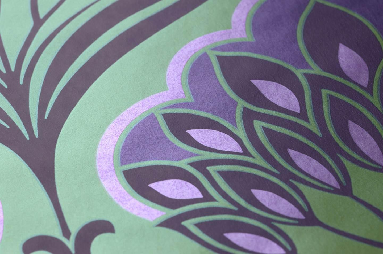 Tapete perdula gelbgr n dunkelviolett perlviolett for Tapeten land