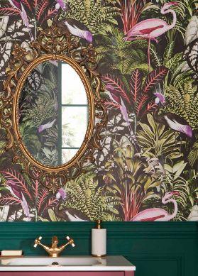 Papel pintado Caribbean Garden verde Raumansicht