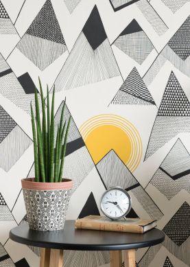 Wallpaper Mountains black Raumansicht
