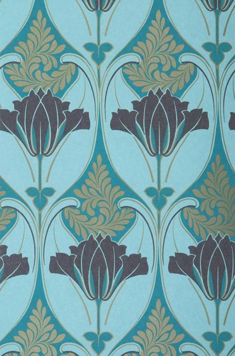 Archiv Wallpaper Lucina pastel turquoise Roll Width