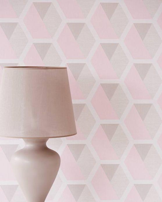 Archiv Papel pintado Hirolanit rosa claro brillantina Ver habitación
