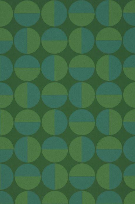 Papier peint géométrique Papier peint Wahida vert Détail A4