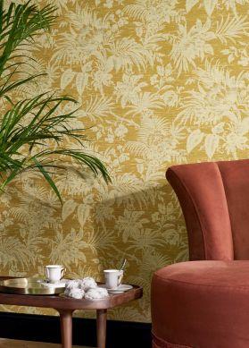 Papel de parede Moa amarelo caril Raumansicht