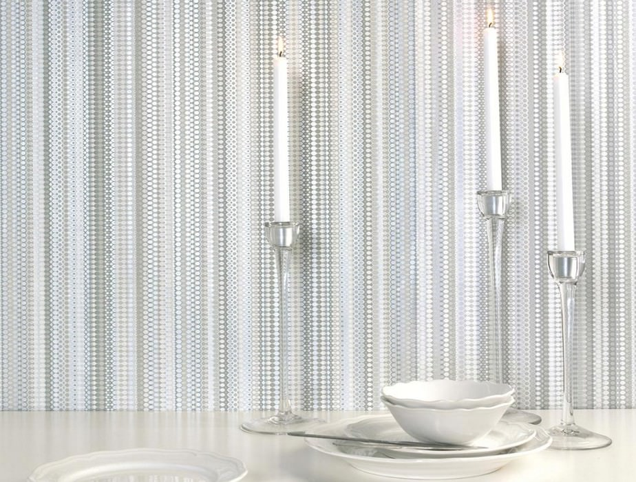 Wallpaper Valentin Matt Stripes Grey tones Grey white Silver shimmer