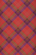 Wallpaper Arristo Matt Plaid Pale brown Pearl beige Red Violet