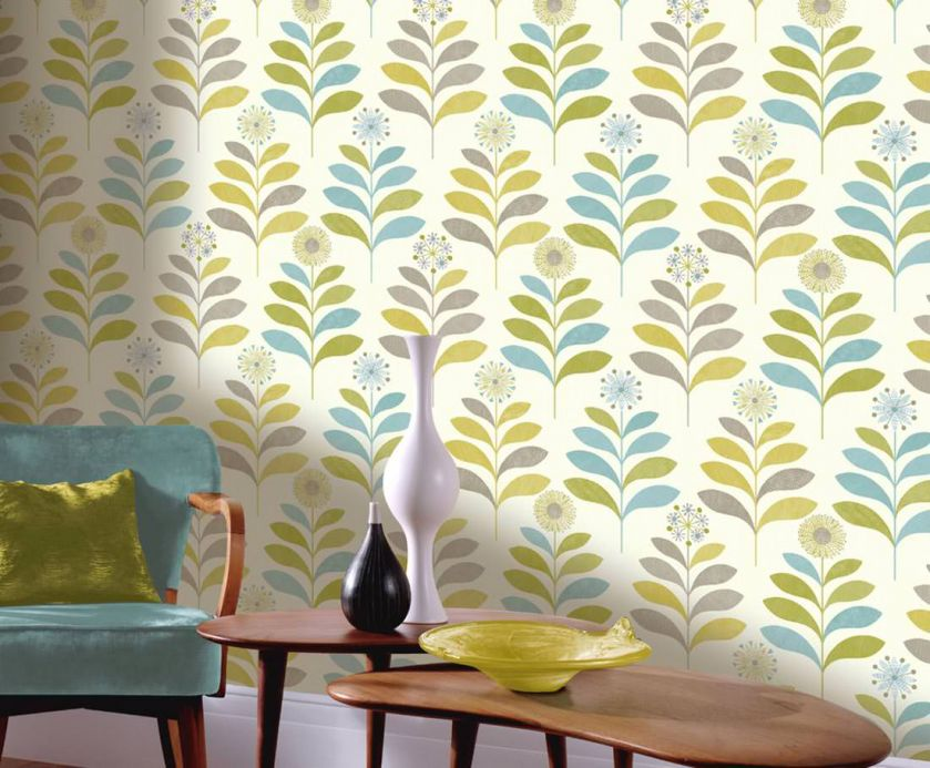 Archiv Wallpaper Tessa curry yellow Room View