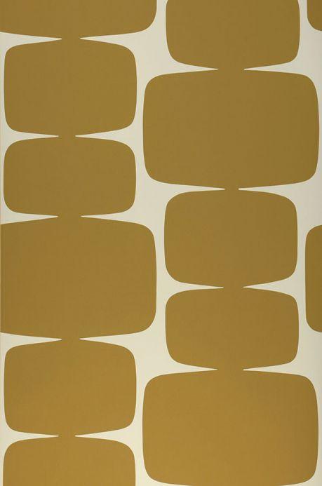 Geometric Wallpaper Wallpaper Waris ochre Roll Width