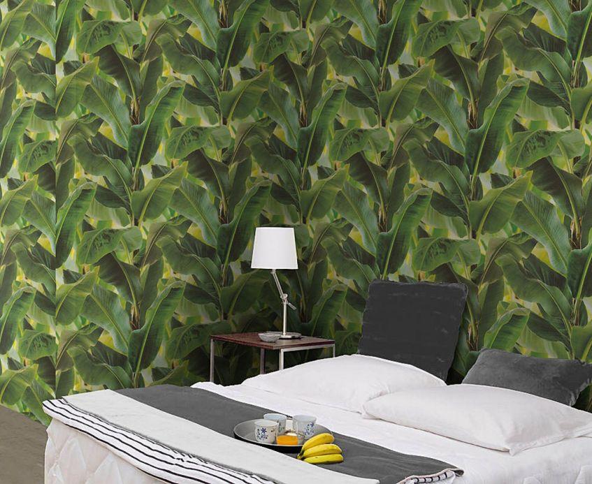 Papel de parede botânico Papel de parede Vale verde Ver quarto