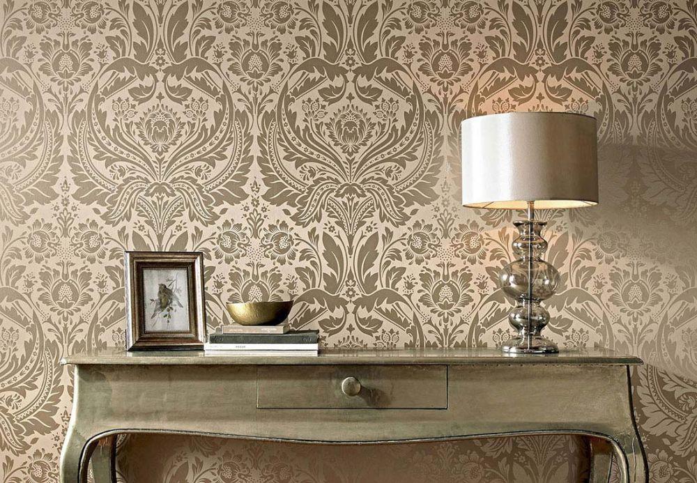 Archiv Papel pintado Manus beige grisáceo pálido Ver habitación