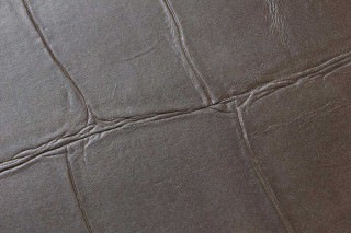 Wallpaper Croco 07 Shimmering Imitation leather Brown grey