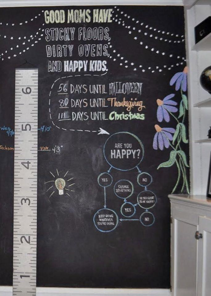 Kindergarten-kreide-tapete