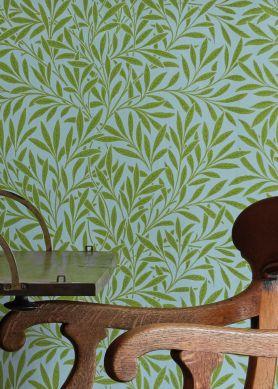 Wallpaper Chateau light green Raumansicht