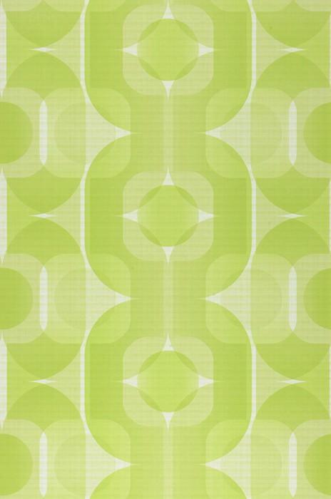 Papel pintado Sinon Mate Elementos retro Blanco verdoso Verde amarillento Verde amarillento claro