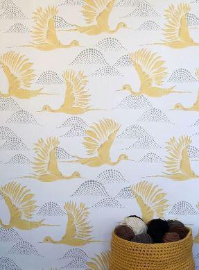 Papel de parede Alva amarelo milho Raumansicht