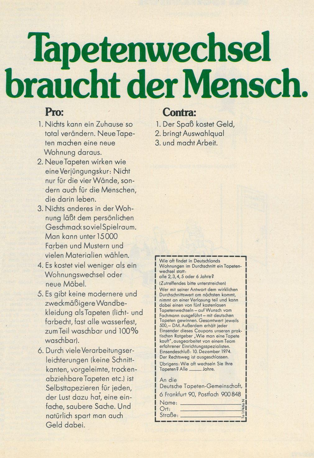 Tapeten-Werbung-70er