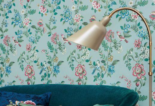 Papel de parede Miri turquesa pastel claro Ver quarto