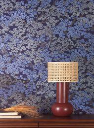 Papel de parede Kirigami azul pérola