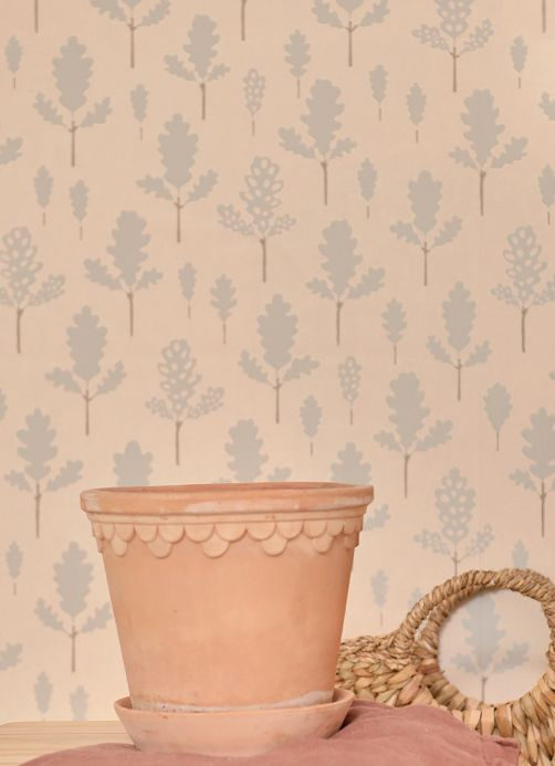 Majvillan Wallpaper Wallpaper Oak pastel turquoise Room View