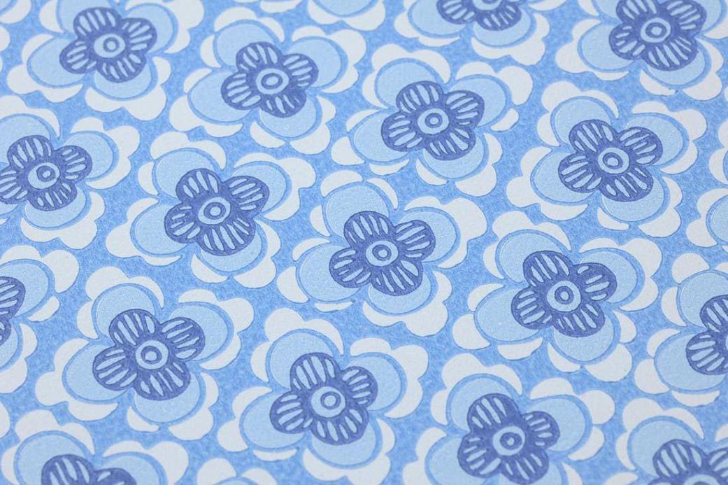 Archiv Wallpaper Galina light blue Detail View