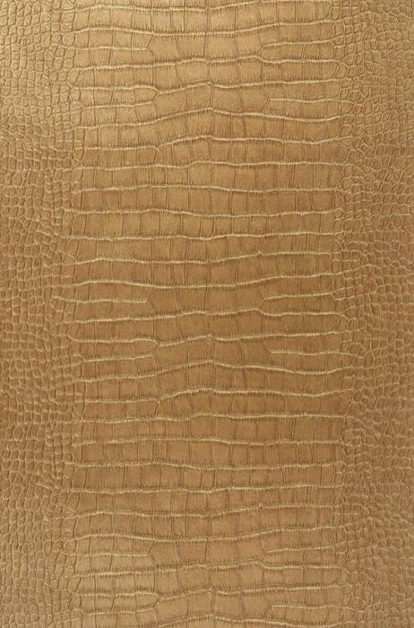 Wallpaper Big Croco Shimmering Imitation leather Gold