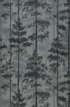 Papel de parede Valira Mate Árvores Tons de cinza
