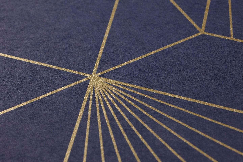 Papier Peint Maurus Bleu Nuit Dore Papier Peint Des Annees 70