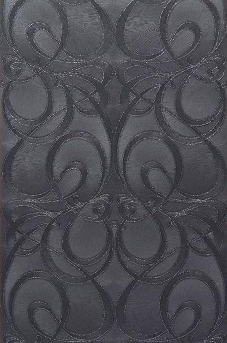 Archiv Papier peint Nova gris noir Largeur de lé