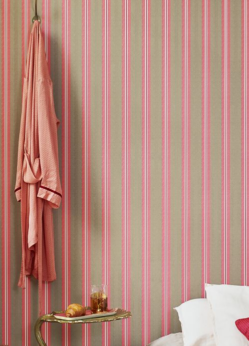 Striped Wallpaper Wallpaper Stellar rosè Room View