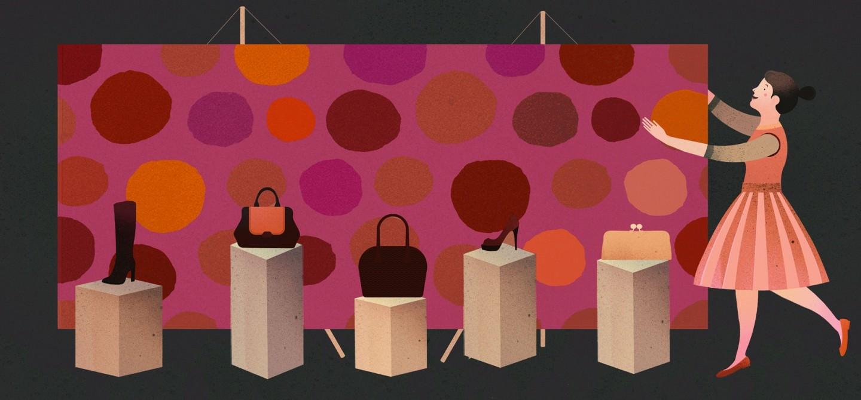 Papéis de parede em edifícios de feiras comerciais- promover serviços e produtos com a luz certa