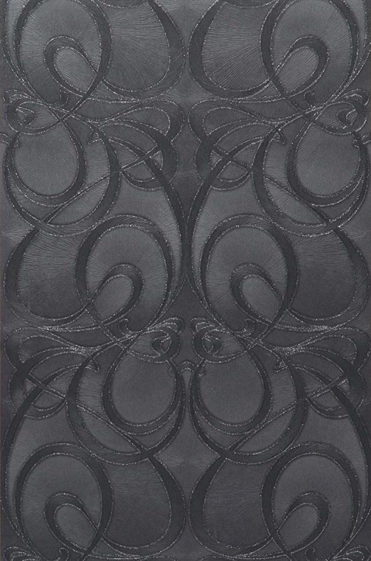 papier peint nova gris noir anthracite argent scintillant papier peint des ann es 70. Black Bedroom Furniture Sets. Home Design Ideas