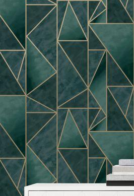 Wallpaper Fantasque dark green Raumansicht